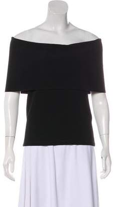 Rosetta Getty Off-The-Shoulder Knit Top
