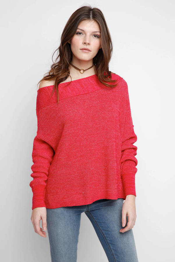 Free People Alana One Shoulder Pullover Sweater