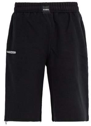 Vetements Inside Out Cotton Blend Jersey Shorts - Mens - Black