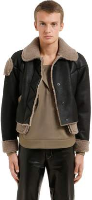 Vejas Cropped Shearling Jacket