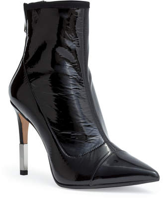 Balmain Blair 95 black patent ankle boots