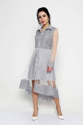 Marvy Fashion Striped Shirt Dress