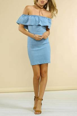Jealous Tomato Denim Ruffle Dress $56 thestylecure.com