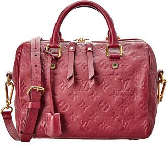 Louis Vuitton Burgundy Monogram Empreinte Leather Speedy 25 Bandouliere