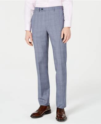 fe94fffd9 Calvin Klein Men X-Fit Slim-Fit Natural Stretch Blue Plaid Suit Pants