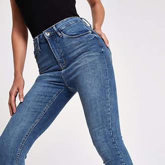 River Island Mid blue Harper high waisted skinny jeans