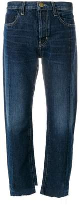 Current/Elliott straight leg cropped jeans