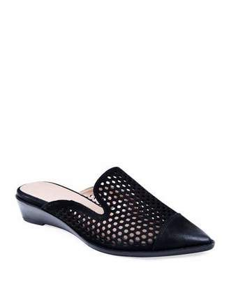 Bettye Muller Concept Cara Perforated Leather Mules, Black
