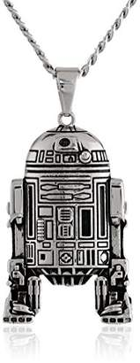 Star Wars Jewelry Unisex R2D2 Stainless Steel Chain Pendant Necklace