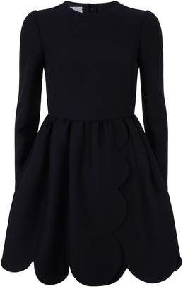 Valentino Scalloped Trim Dress