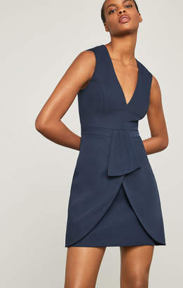 BCBGMAXAZRIA Clare Sleeveless Draped-Skirt Dress
