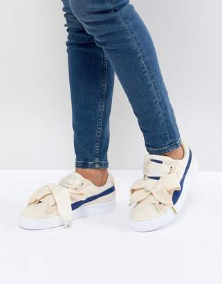 Puma Basket Heart Denim Sneaker