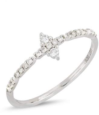 Bony Levy 18K White Gold Prong & Pave Diamond Stacklabe Ring