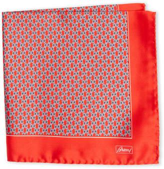 Brioni Red Diamond Print Pocket Square