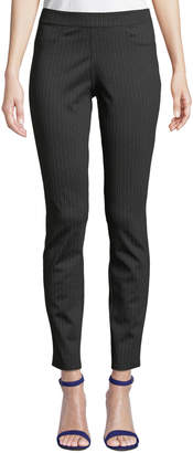Max Studio Mid-Rise Pinstriped Ponte 5-Pocket Pants