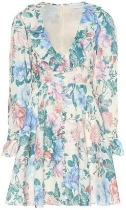 Zimmermann Verity floral linen minidress