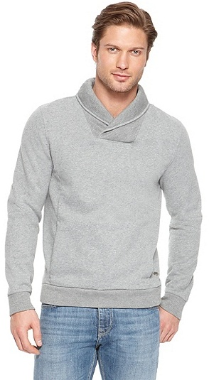 HUGO BOSS Wisible Cotton Blend Sweater - Black