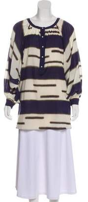 3.1 Phillip Lim Printed Long Sleeve Blouse