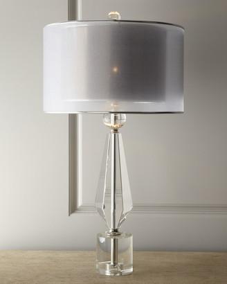 John-Richard Collection Double Shade Crystal Lamp