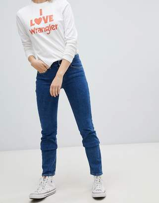 Wrangler mid rise straight cut jeans