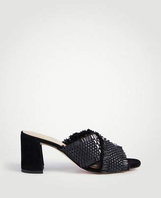 Ann Taylor Jimena Woven Block Heel Sandals