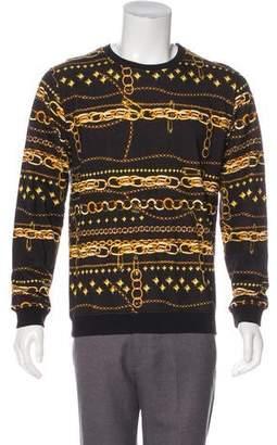 Versus Chain-Link Print Sweatshirt