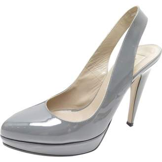 Valentino Grey Patent leather Heels
