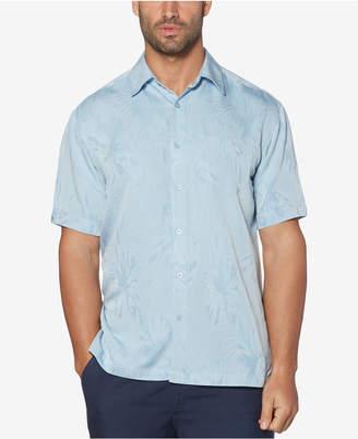 Cubavera Men's Big & Tall Floral Jacquard Shirt