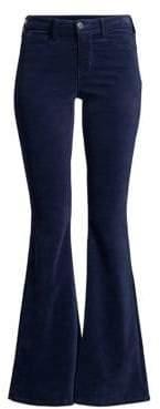 L'Agence Solana High-Rise Flare Velvet Pants