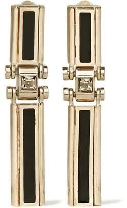 Lanvin Gold-Tone Swarovski Crystal And Resin Clip Earrings