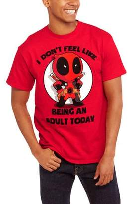 Super Heroes Marvel Deadpool Men's I Don't Feel Like Being An Adult Graphic T-shirt