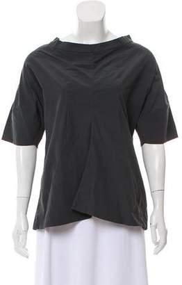 Marni Short Sleeve Bateau Neck Top