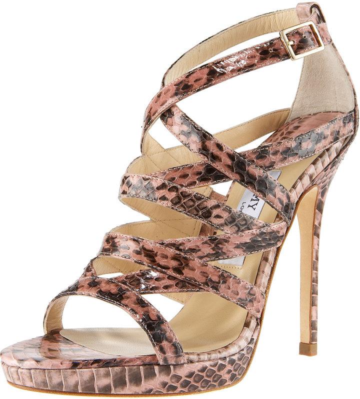 Jimmy Choo Strappy Snake Sandal