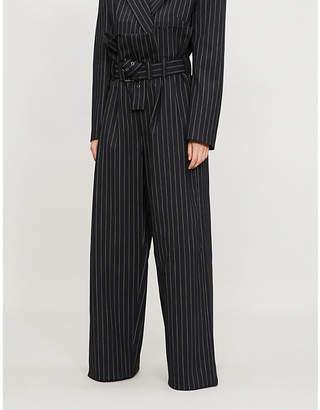 Gareth Pugh Paper-bag stretch-wool trousers