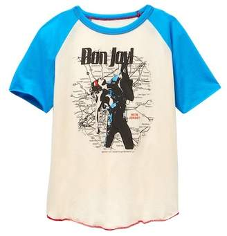 Rowdy Sprout Bon Jovi Raglan Tee (Toddler, Little Boys, & Big Boys)