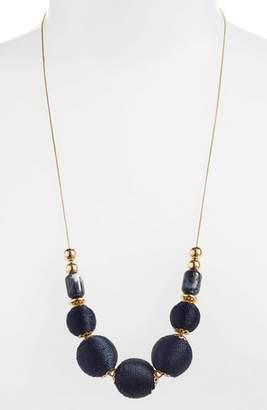 Halogen Wrapped Sphere Slider Necklace