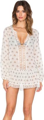 eberjey Lotus Bloom Tessa Dress $166 thestylecure.com