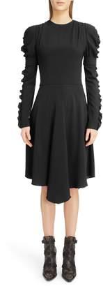 Chloé Detachable Cuff Satin Crepe Dress