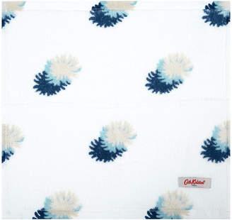 Cath Kidston White Cotton Face Cloth - Set of 3 - Pom Pom Spot
