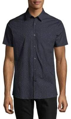 J. Lindeberg Allover Polka Dot Printed Button-Down Shirt