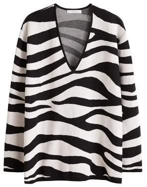 Violeta BY MANGO Zebra textured sweater