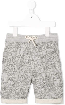 Finger In The Nose The Simpsons print track shorts