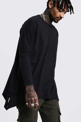 boohoo Drop Shoulder Faux Layer T-Shirt