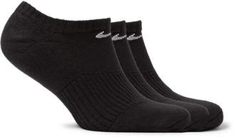 Three-Pack Cotton-Blend No-Show Socks