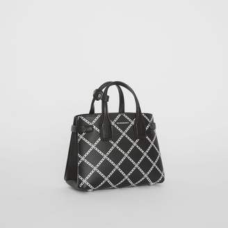 Burberry The Baby Banner in Link Print Leather