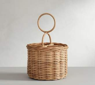 Pottery Barn Willow Woven Flatware Caddy - Natural