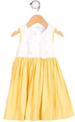 CZ by Carolina Zapf Girls' Sleeveless Ruffle-Accented Dress