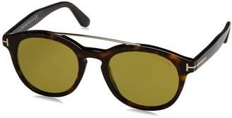 Tom Ford Newman FT 515 52N Dark Havana / Green Sunglasses