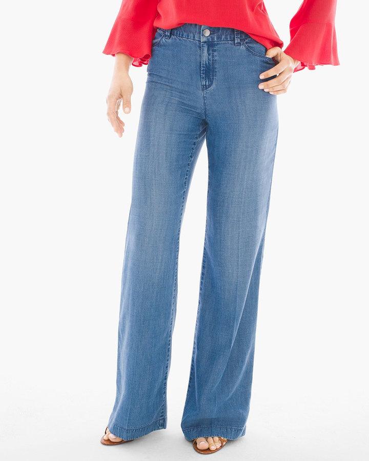 Platinum Wide-Leg Trouser Jeans