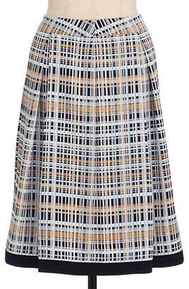 Ensuite (エンスウィート) - [ensuite] マルチチェックひざ丈スカート(5409130010)